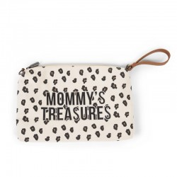 MOMMY CLUTCH CANVAS LEOPARD