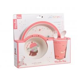 Set vaisselle bébé rose Les...