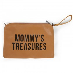 MOMMY CLUTCH SIMILI CUIR BRUN