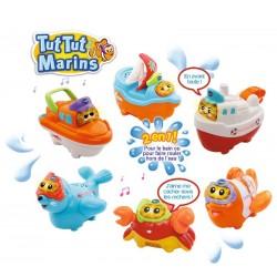 Jeu de bain bateaux & animaux