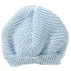 Bonnet maille bleu pascal...