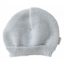Bonnet maille gris naissance