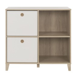 Commode 4 niches blanc LORA
