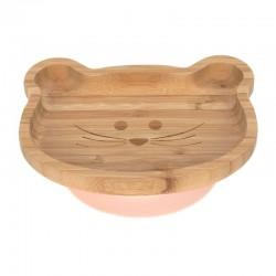 Assiette en bois de bambou...